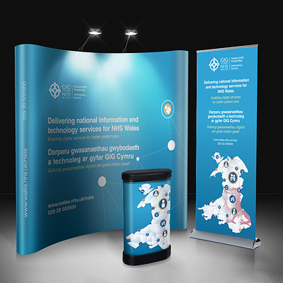 NHS popups and banners