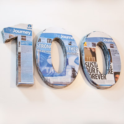 Tata steel newspaper design - 100 issue