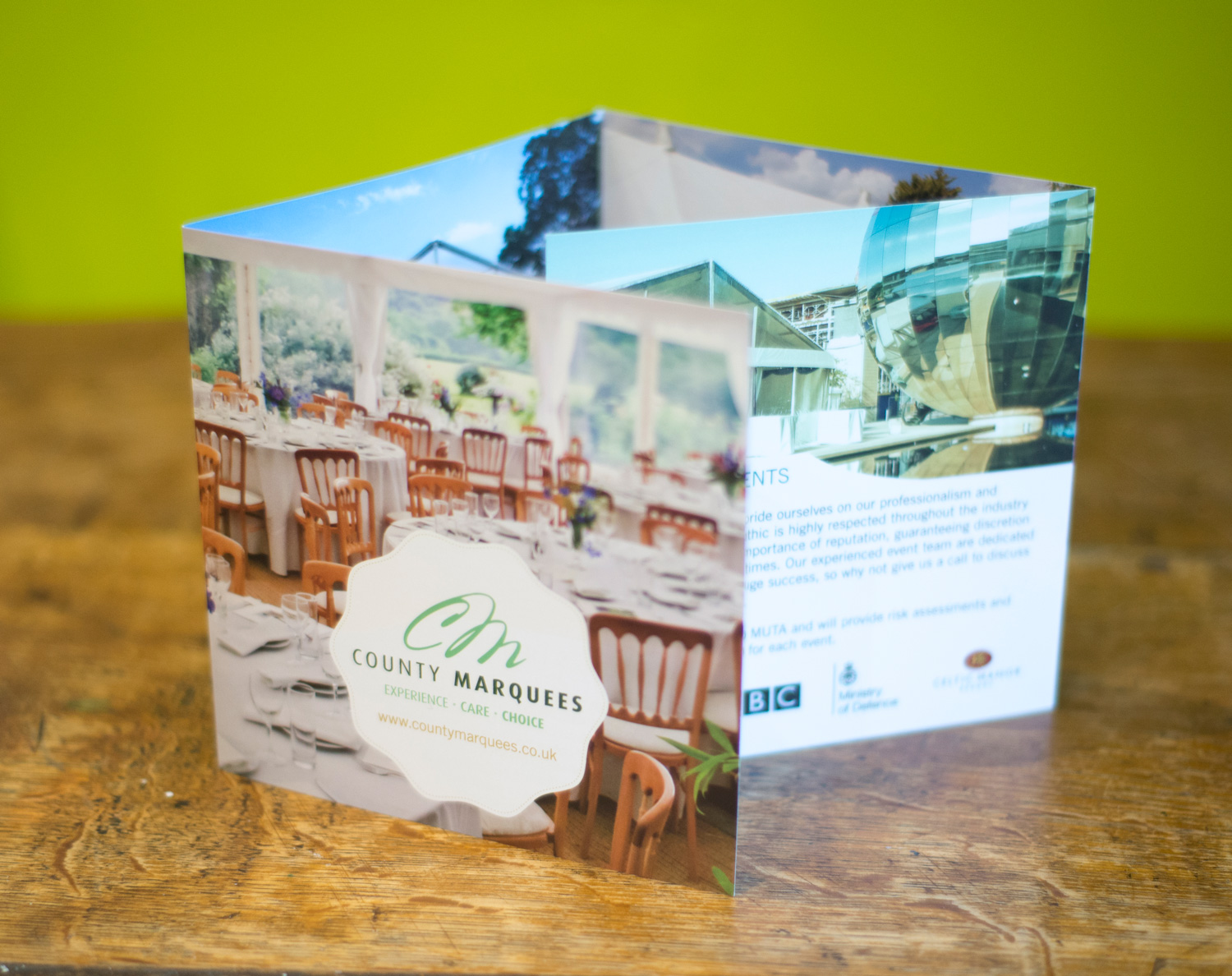County Marquees Web Design Case Study
