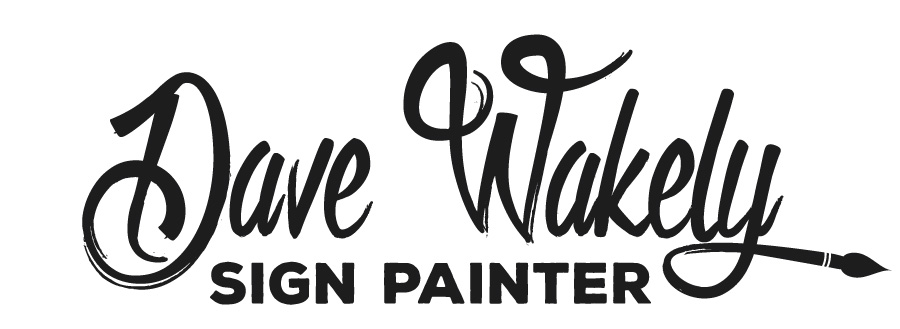 Dave Wakely Sign Painter Logo Design