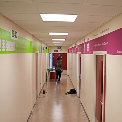 RE and maths corridor design