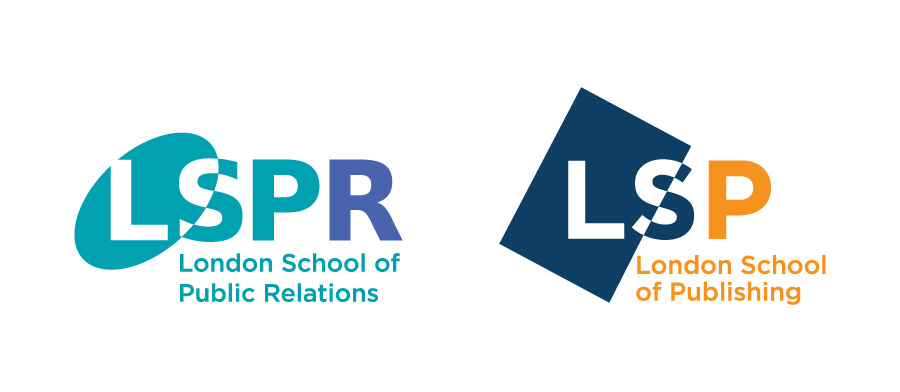 London School of Public Relations and London School of Publishing Logo Design