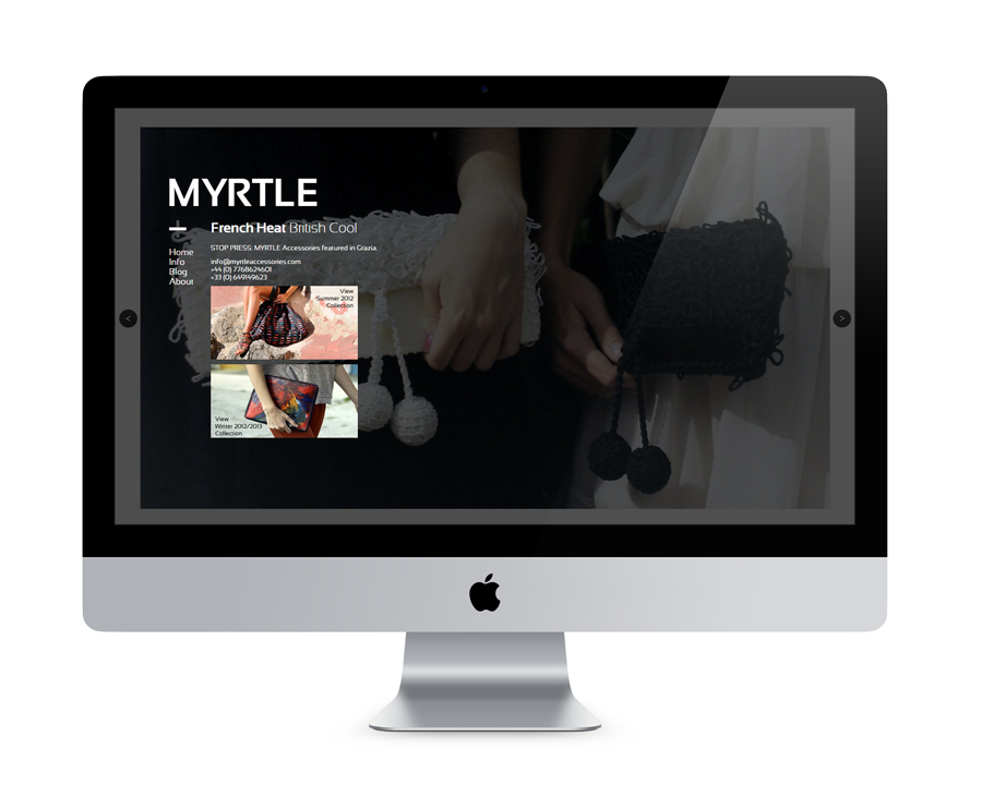 Myrtle Accessories Website Design