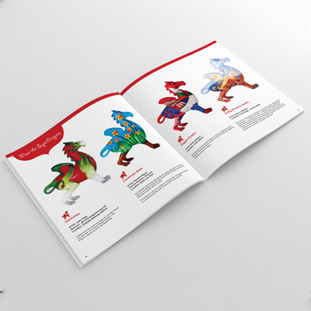 Superdragons brochure design