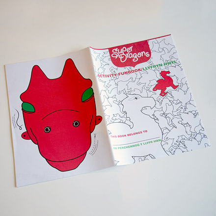 Superdragons activity book design
