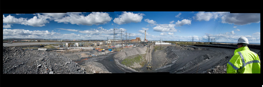 Uskmouth power panoramic photo
