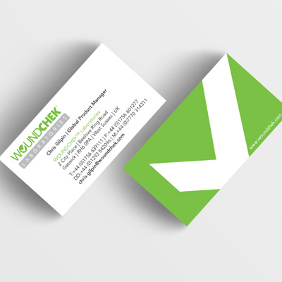 Woundcheck business card design