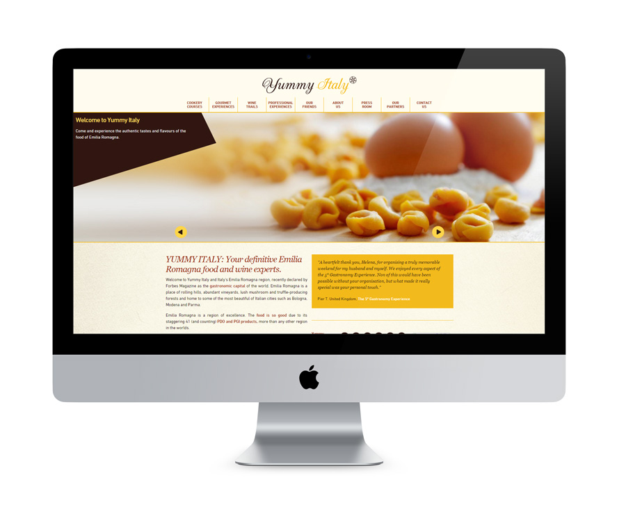 Yummy Italy Website Design