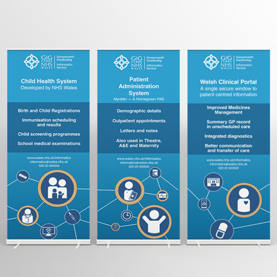NHS triple roller banners