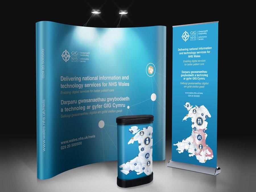 Stand Up Banner Designs : Nhs wales gig cymru banner design powerpoint webber